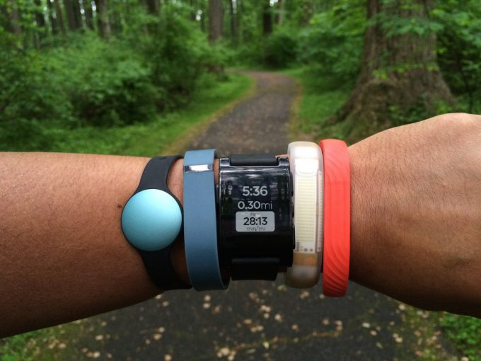 activity tracker on hand