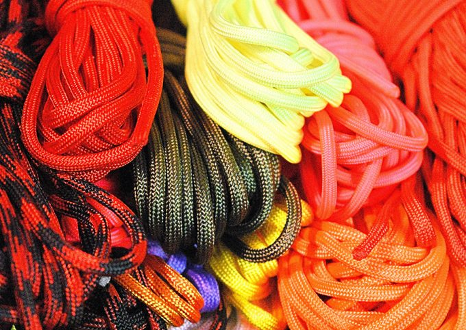 different color paracord