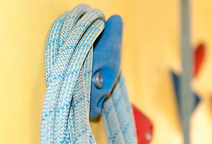 climbing rope on wall