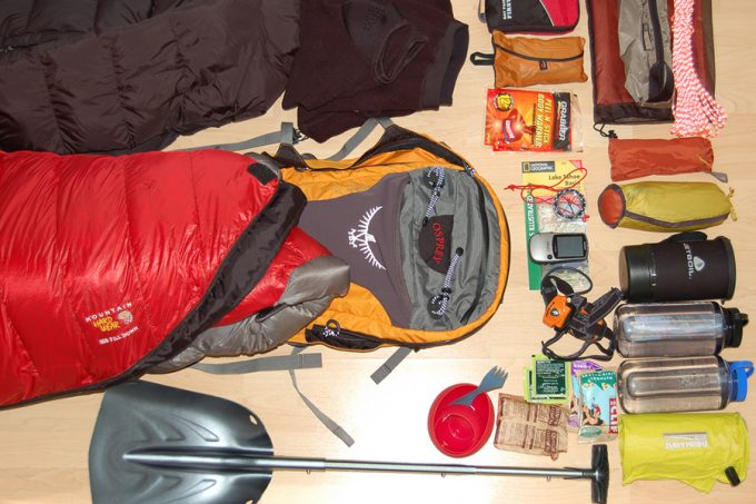 gear for bug out backpack