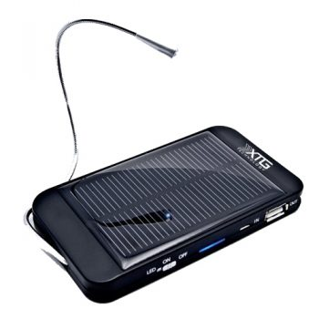 XTG Solar Charger, Compact Solar Powered Back Up Battery