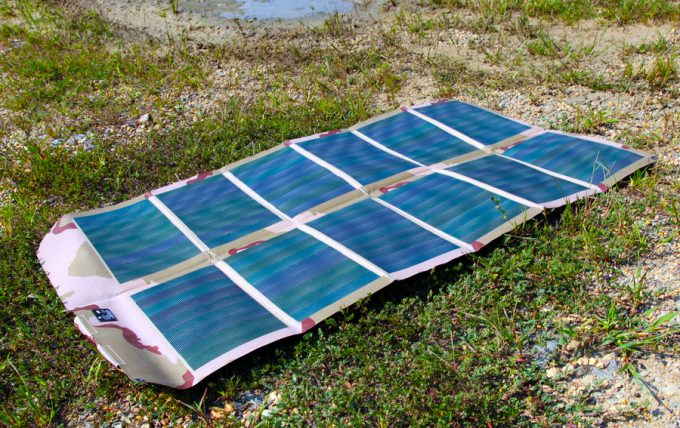 12 panel portable solar charger