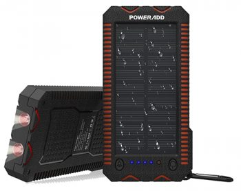 Poweradd Apollo2 10,000mAh Portable Solar Panel External Battery Pack