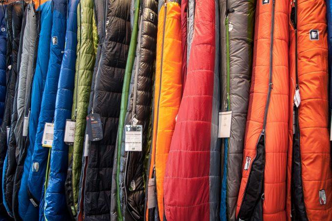 sleeping bags in shop