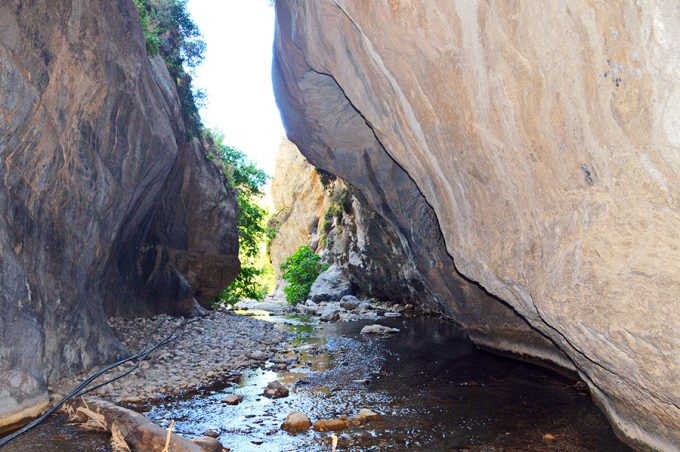 gorge between rocks