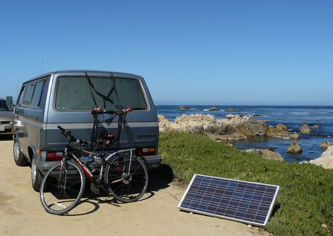 portable solar panel for van