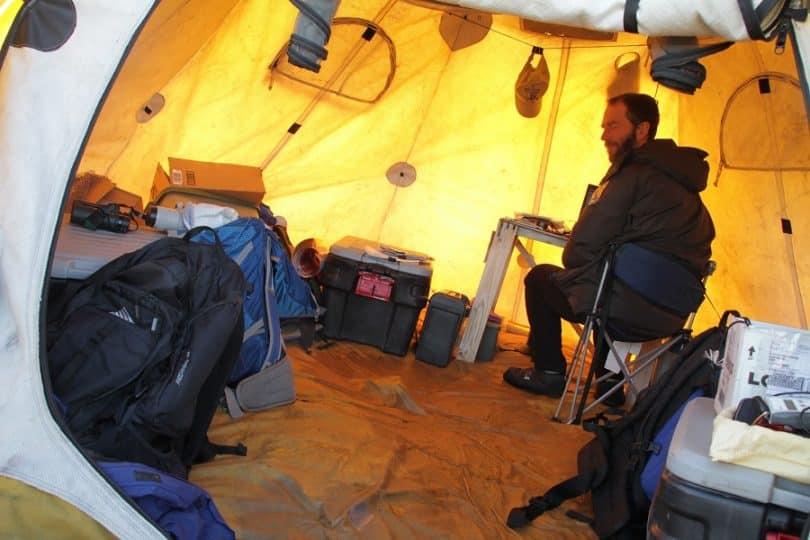 activities inside the tent