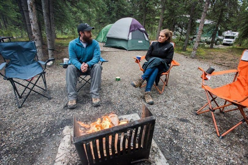 Many camping activities