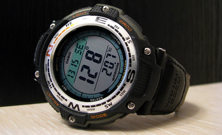 Casio SGW 100 Digital Compass Twin Sensor Sport Watch