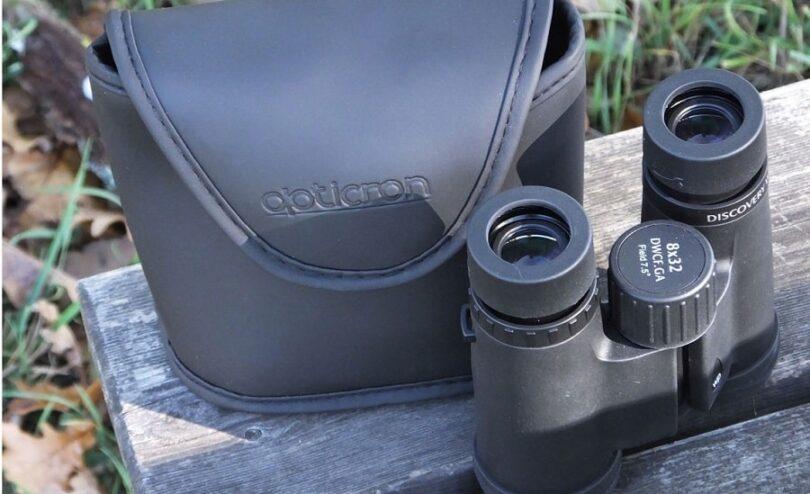 compact binocular housing and bag