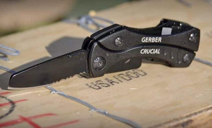 Close-up of a Gerber multi tool