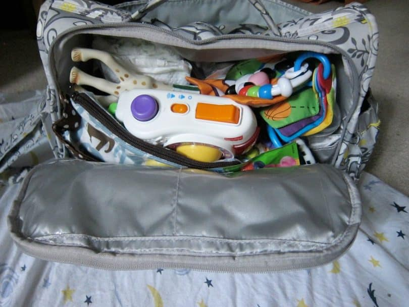 diaper bag space inside