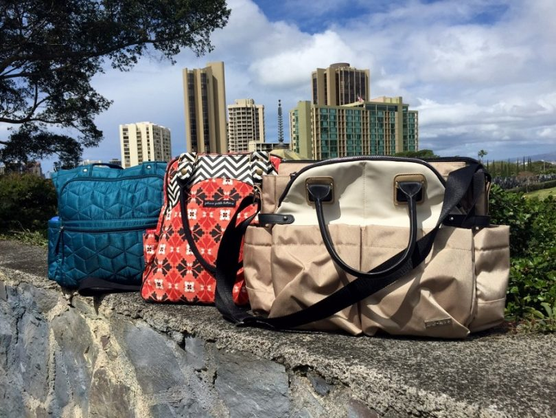 diaper bags on the bank