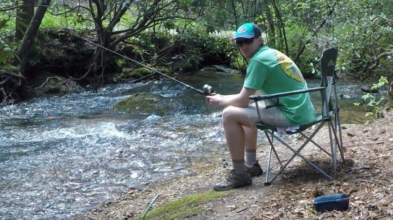 fishing on camping