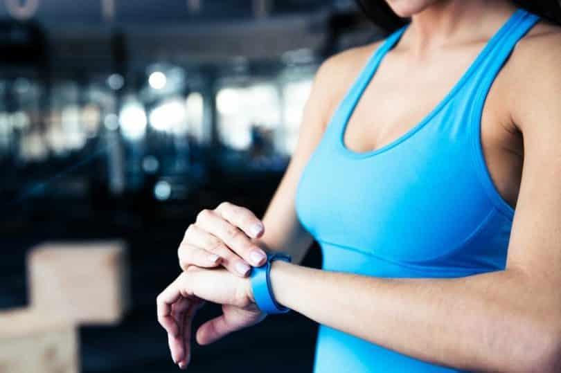 fitness tracker on the wrist