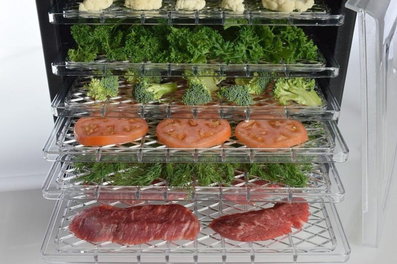 Ivation Electric Countertop Food Dehydrator in use