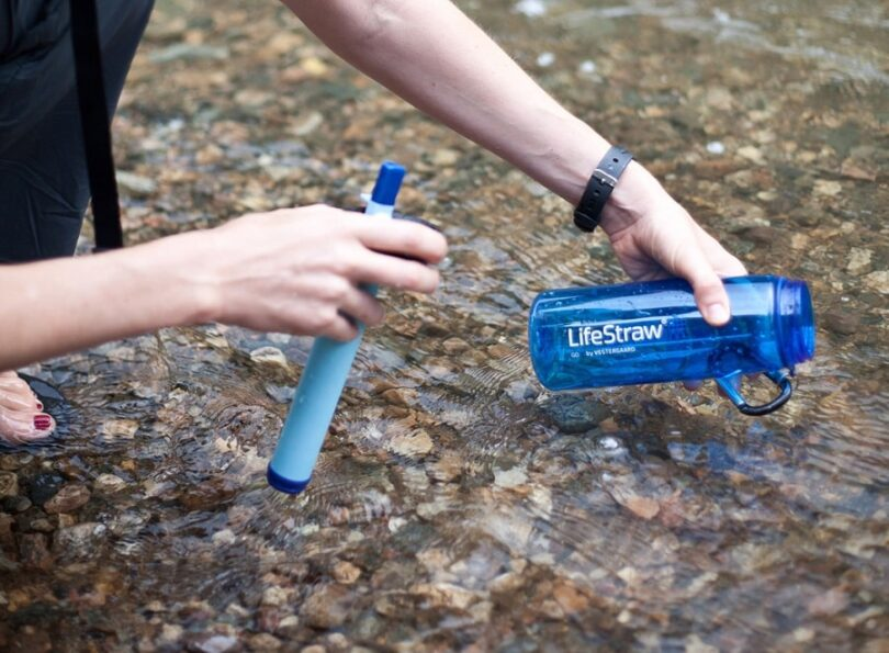 LifeStraw in the hand