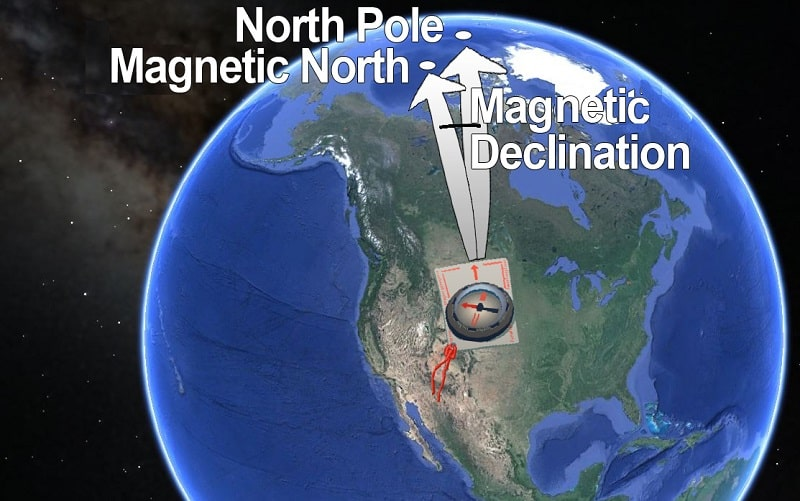 magnetic declination explained