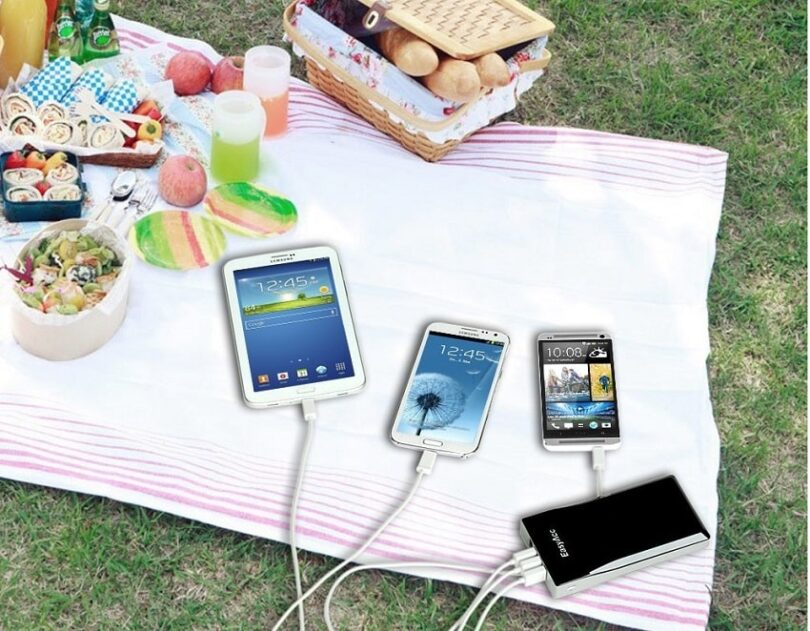 portable battery charge output outdoor
