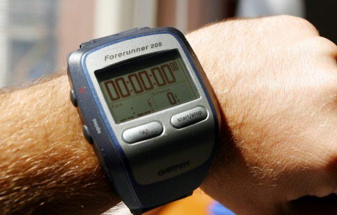 gps watch screen