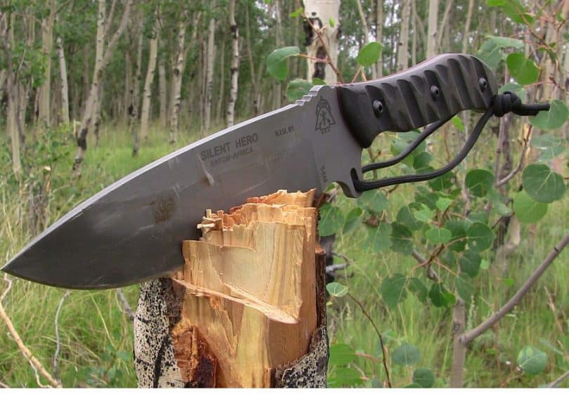 survival knife has many uses