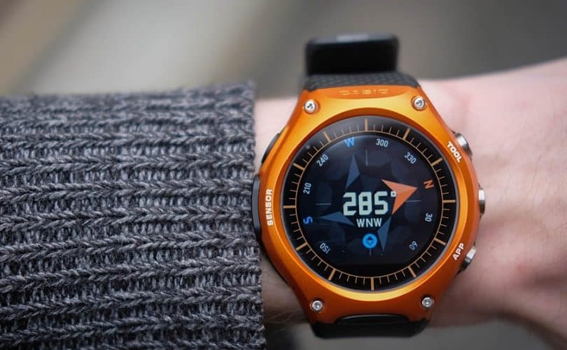 Survival watch with compass