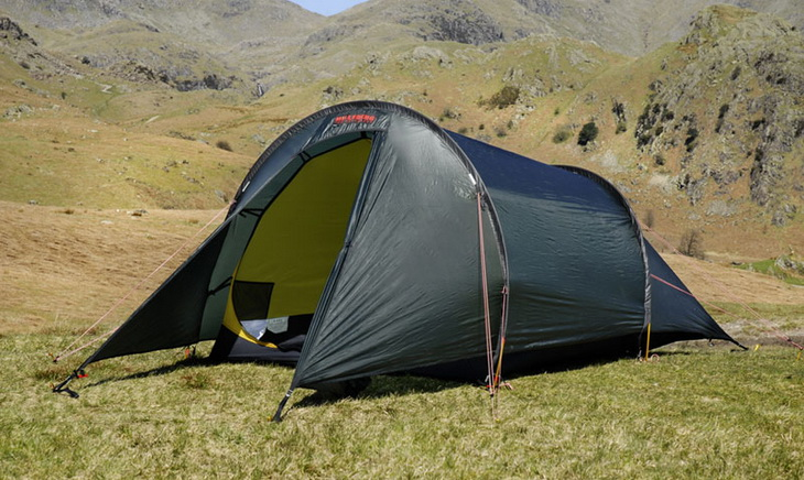 Image of a tent in the mountains