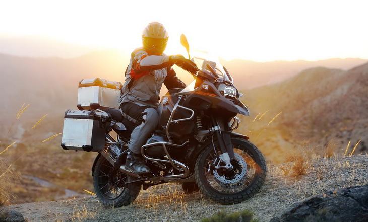A man riding on BMW R 1200 GS