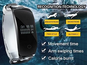 Waterpoof Sport Heart Bracelet Swimming Fitness Tracker