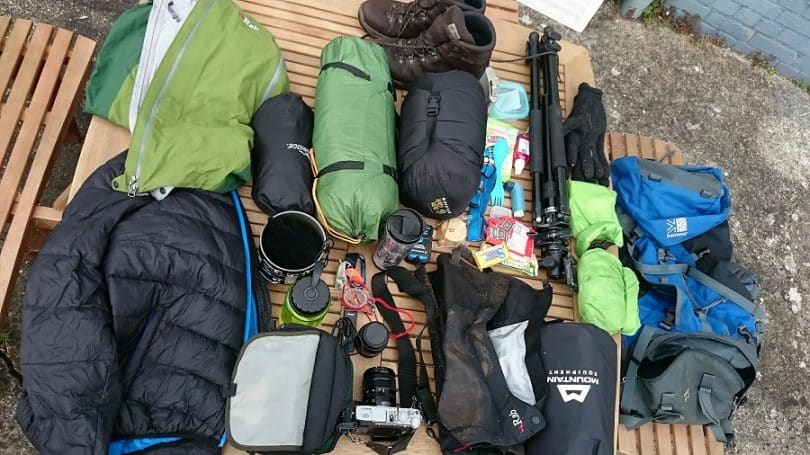 winter camping checklist items
