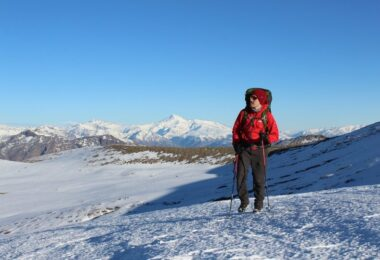 Winter Landscape Mountain Snow Mountaineering Cold