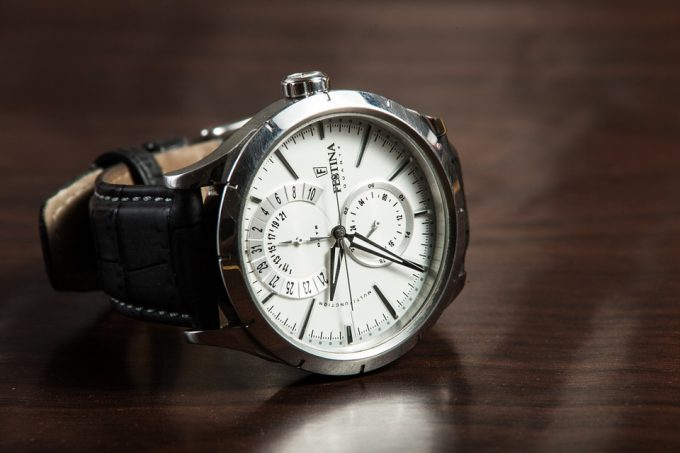 analog watch with compass