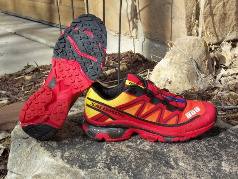 trail running shoes ready for action
