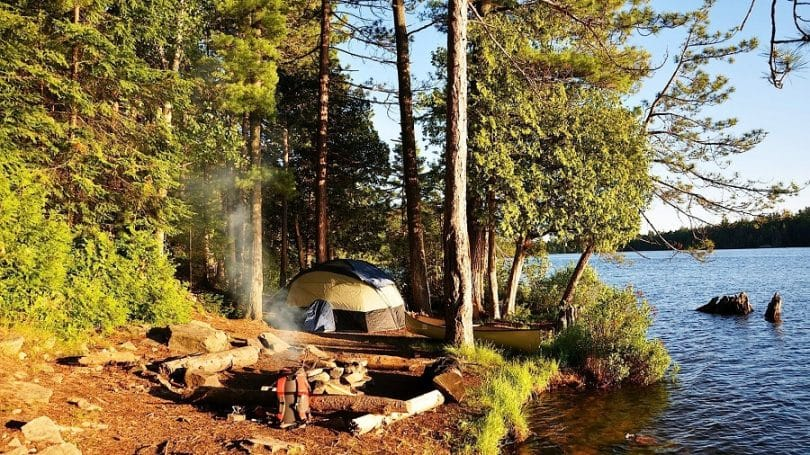 camping and setting up your site