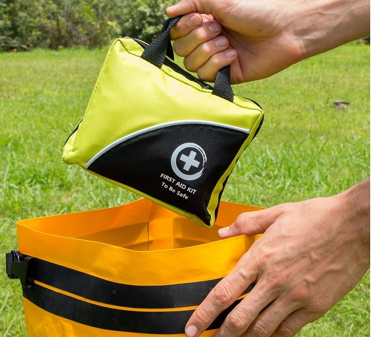 Portable camping safety kit