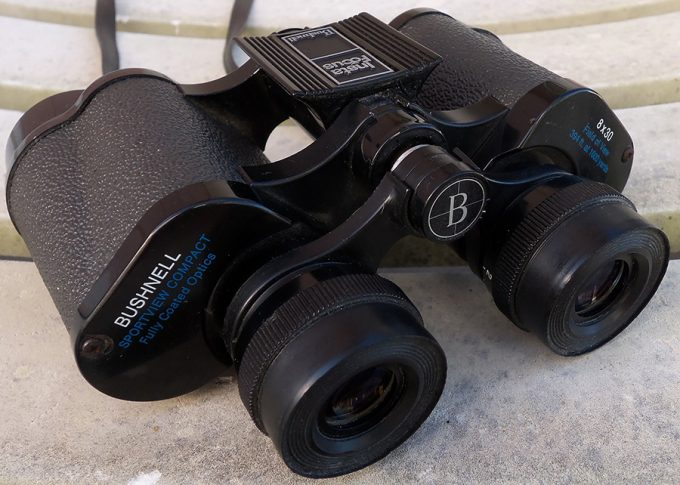 compact binoculars with magnification mark