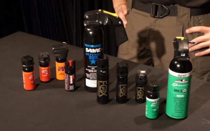 different types of pepper spray