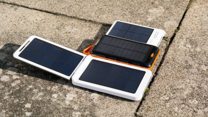 different types of solar chargers