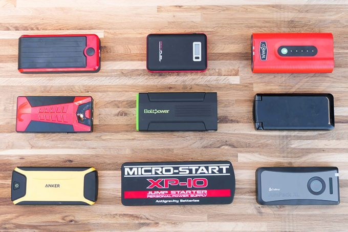 different size portable batteries