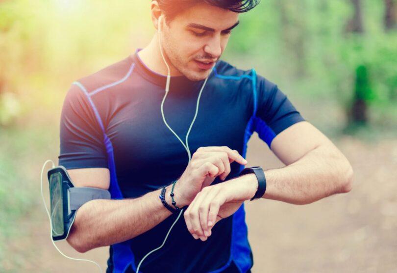 fitness tracker on runner