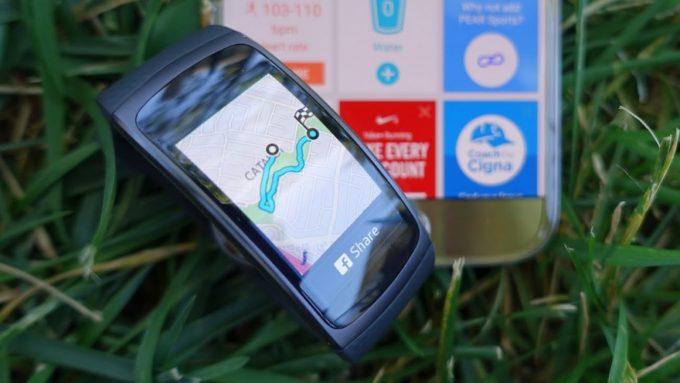 gear fit 2 on grass