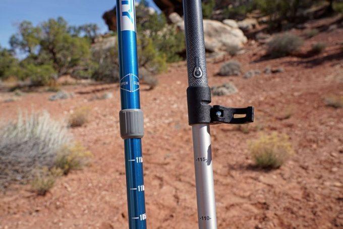 hiking poles locking mechanism