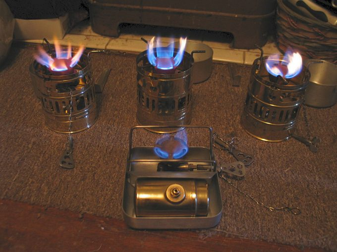 multiple types of backpacking stoves