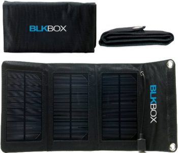 Portable Solar Chargers- 12W BLKBOX Portable Folding Solar Kit