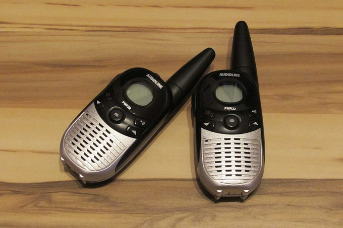 two walkie talkies next to each other