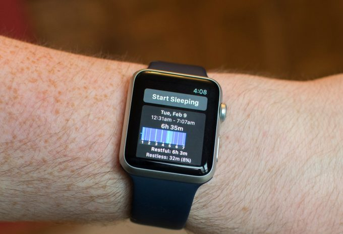 sleep tracker on apple watch