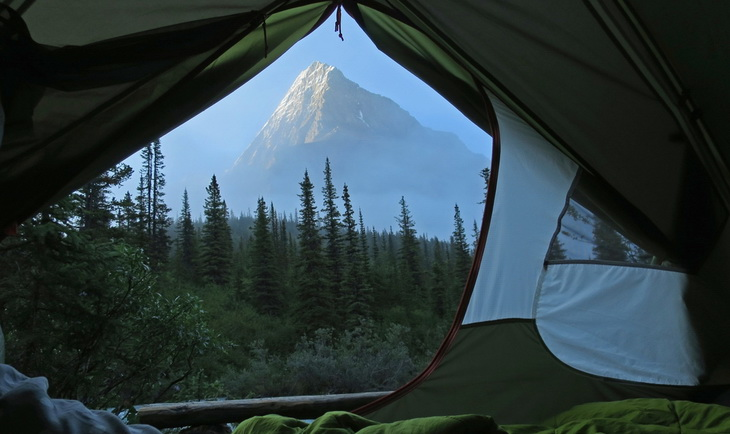 Image presenting tent view