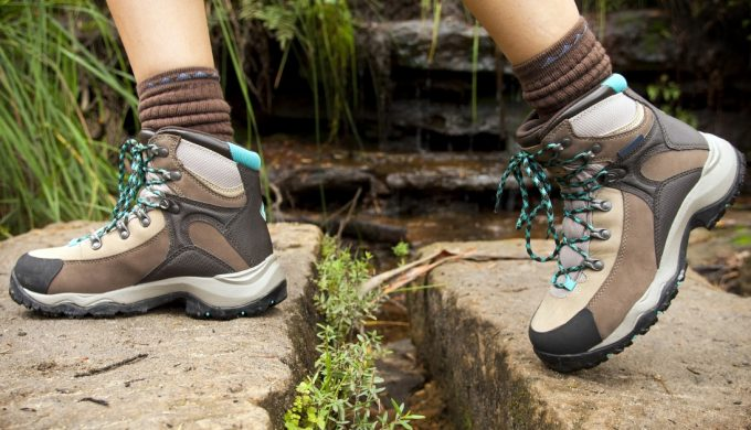 woman in hiking boots
