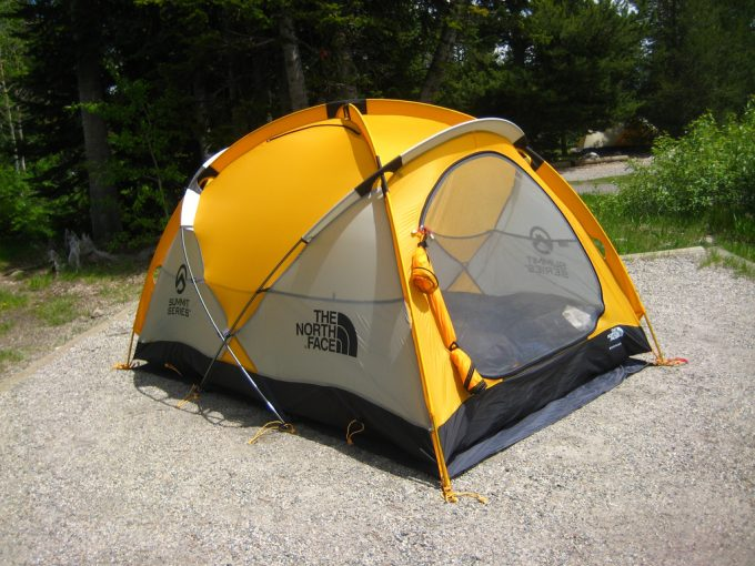 4 season camping tent in nature