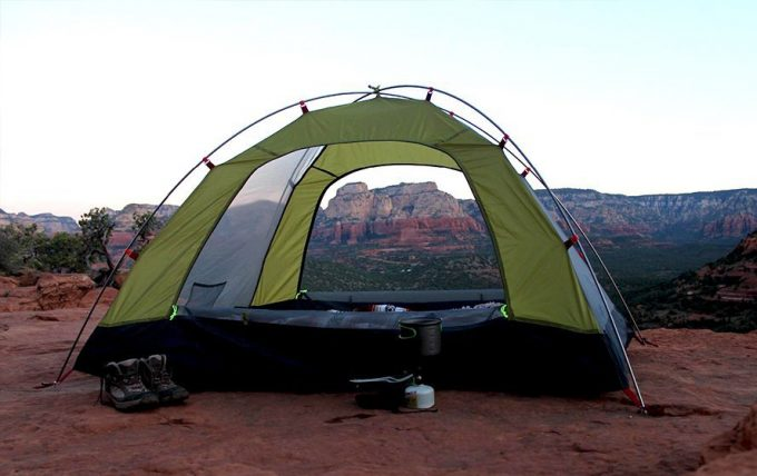 4 person camping tent in desert